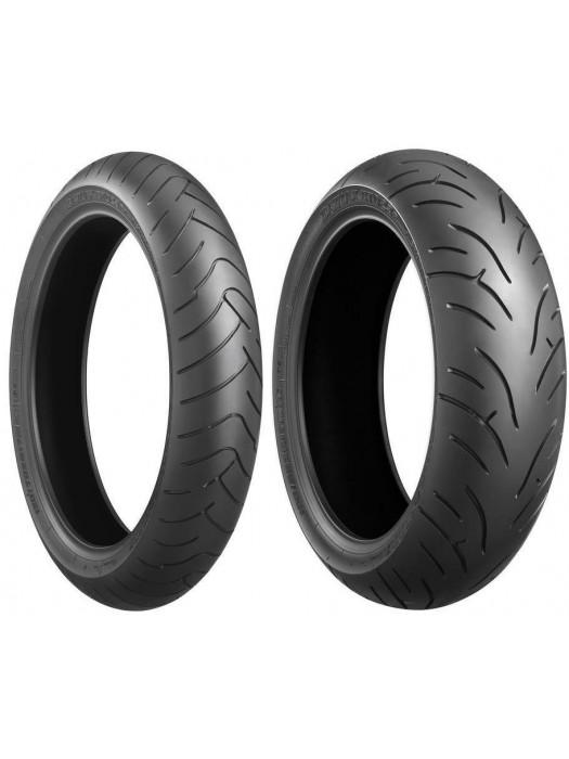 Bridgestone BT-023 GT (For heavy touring bikes) 120/70 ZR17 (58W) & 180/55 ZR17 (73W)